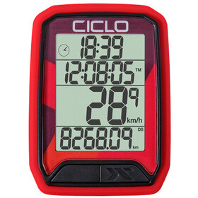 Ciclosport Protos 213 Fietscomputer, rood